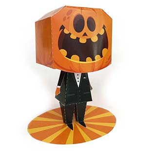 3D Pumpkin Head Man