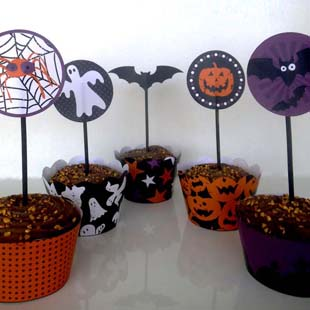 Décorations cupcake halloween