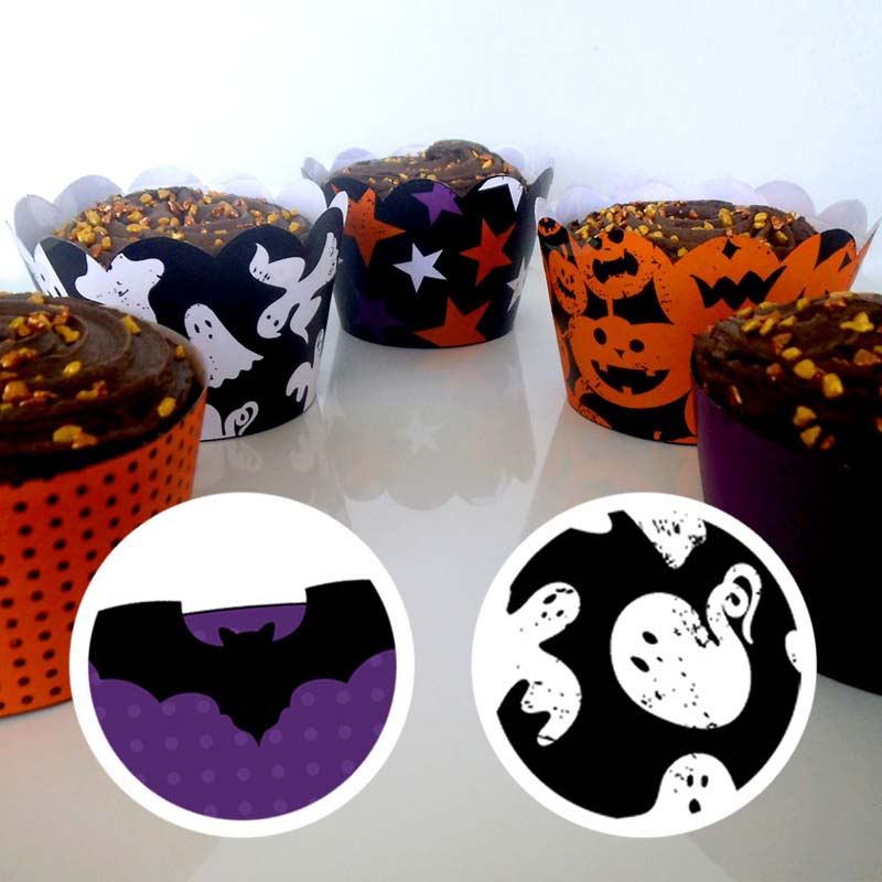 Halloween Cupcake Wrapper 1