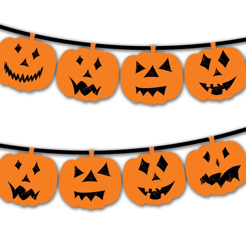photo relating to Halloween Printable Decorations known as Cost-free Printable Halloween Pumpkin Bunting Imaginative Heart