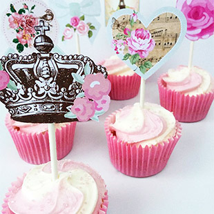 Middag thee cupcake toppers