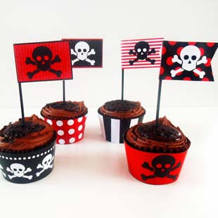 Pirates Party Cupcake