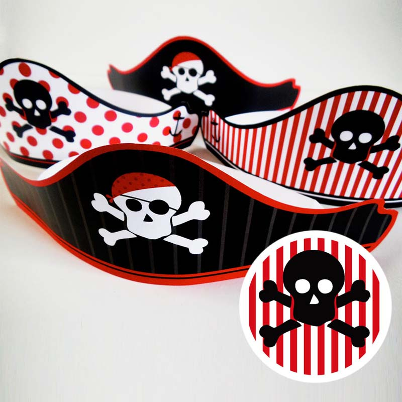 free printable pirates party hat 1 creative center