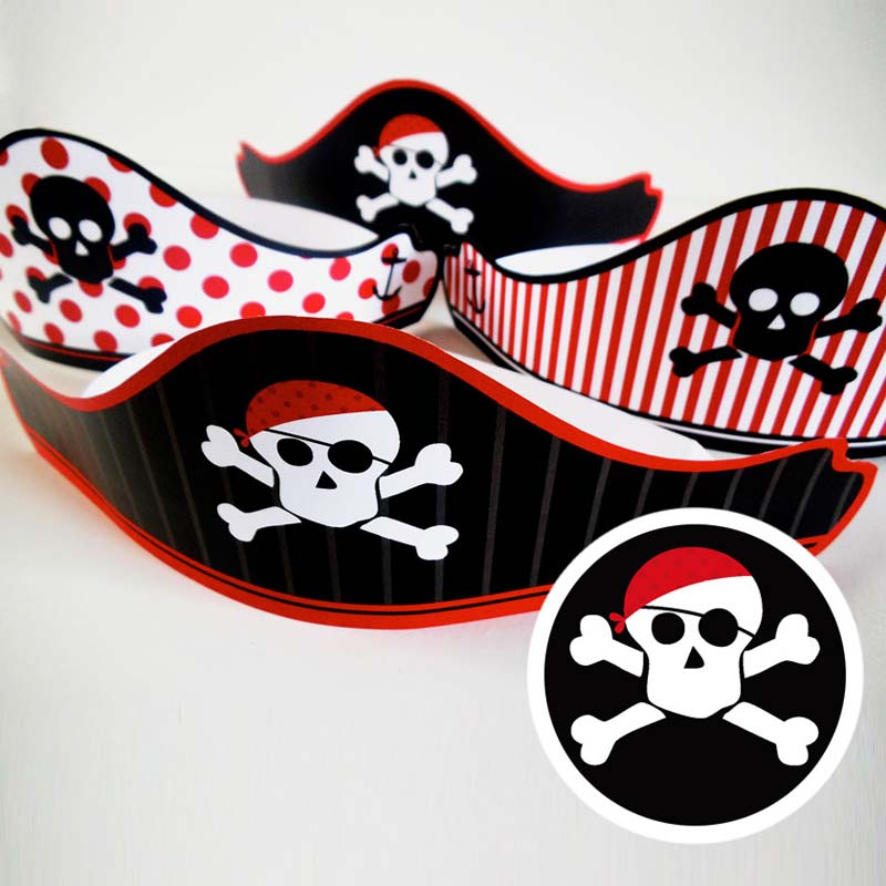 free printable pirates party hat 2 creative center