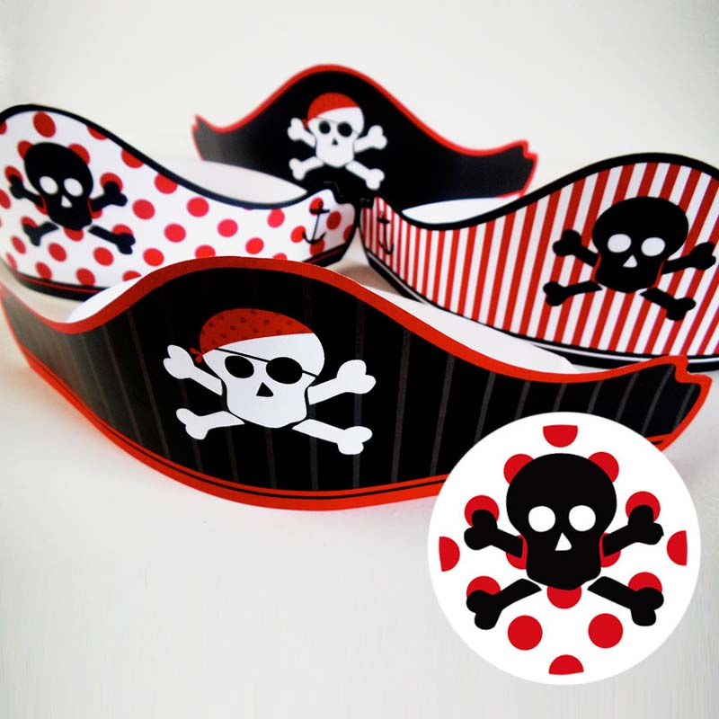 free printable pirates party hat 3 creative center