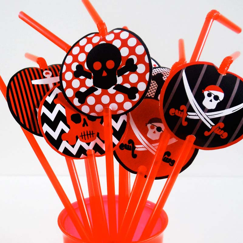 picture relating to Pirates Printable Schedule known as Absolutely free Printable Pirates Bash Straw Toppers Resourceful Heart