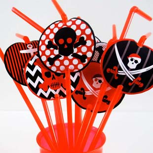 Pirates Party Straw Toppers