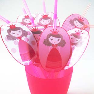 Princess Party Straw Toppers