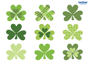 photograph regarding Printable Shamrock named Absolutely free Printable Shamrock Wreath Innovative Heart