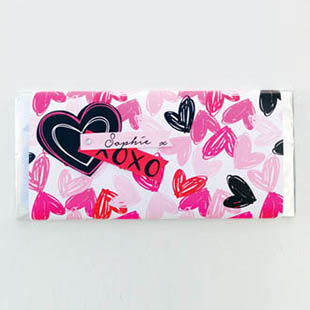 Valentine Chocolate Wrap & Tag