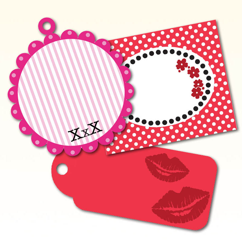 image about Printable Valentine Tag referred to as No cost Printable Valentine Present Tags Artistic Heart