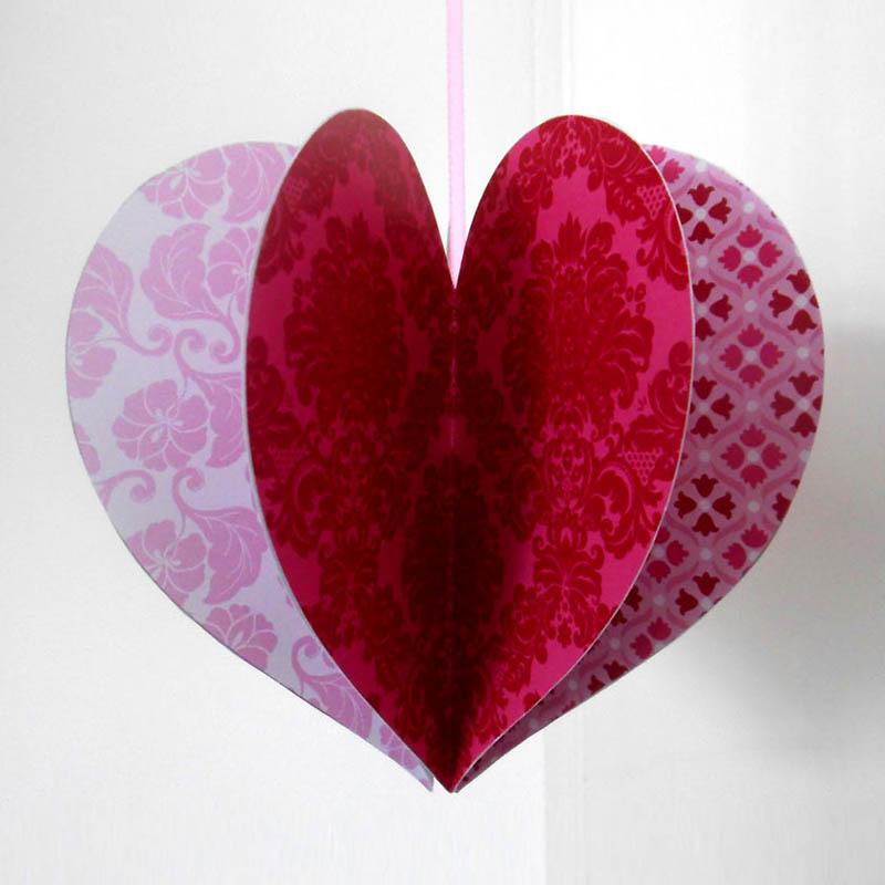Free Printable Valentine Heart Hanging | Creative Center Free Printable Valentine's Day Decorations