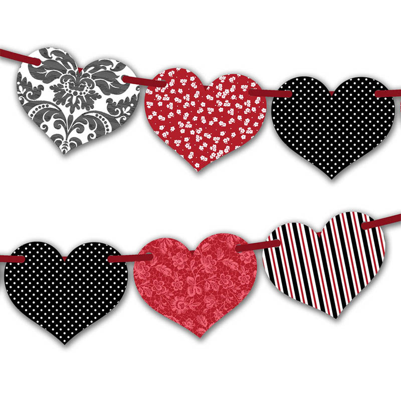 photo regarding Printable Red Hearts named Totally free Printable Valentine Crimson Center Bunting Innovative Middle