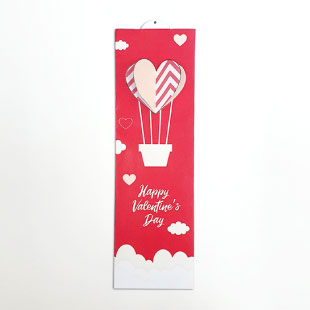 Valentine's Day Hot Air Balloon Bookmark